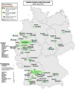 tyska miljozoner karta